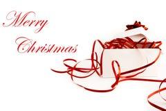 Cadeau de Noël avec la bande et la proue Images libres de droits