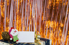 Cadeau de Noël avec la carte vide Image stock