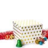 Cadeau de Noël Cadre de cadeau et décorations de Noël Photos stock