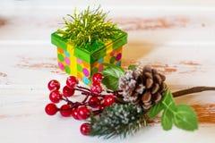 Cadeau de Noël Caisse d'emballage  photos libres de droits