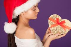 Cadeau de Noël d'un amoureux Photos stock