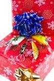 Cadeau de Noël dans la boîte pour des pêcheurs Image libre de droits