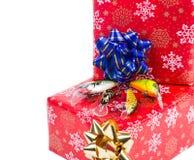 Cadeau de Noël dans la boîte pour des pêcheurs Photos libres de droits