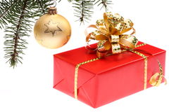 cadeau de Noël de cadre Images stock