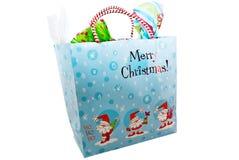 cadeau de Noël de sac Photographie stock libre de droits