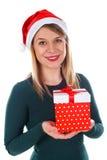 Cadeau de Noël fait avec amour Images stock