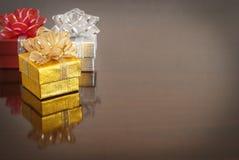 Cadeau de Noël, fond de bokeh image stock