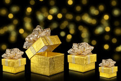 Cadeau de Noël, fond de bokeh image libre de droits