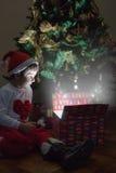 Cadeau de Noël magique Image stock