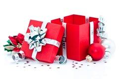Cadeau de Noël ouvert Image stock