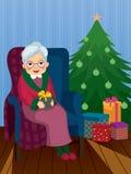 Cadeau de Noël pour la grand-maman Images stock