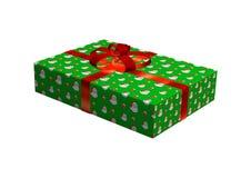 Cadeau de Noël sur le blanc Photos libres de droits