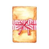 Cadeau de Noël sur un blanc Illustration de Vecteur