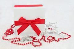 Cadeau de Noël et décorations Images stock