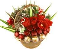 Cadeau de panier de sucrerie pour la célébration de nouvelle année Image stock