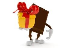 Cadeau de participation de caractère de chocolat illustration de vecteur