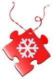 Cadeau de puzzle de flocon de neige Photographie stock