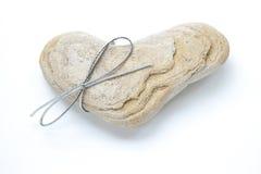 Cadeau de roche de coeur Image stock