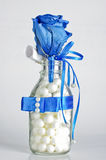 Cadeau de rose de bleu Photo stock