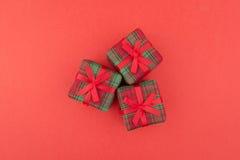 Cadeau de trois rouges Image libre de droits