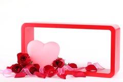 Cadeau de Valentine avec la trame Photos stock