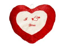 Cadeau de Valentine Day Love Pillow Cushion Photos stock
