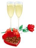 Cadeau de Valentines Images libres de droits