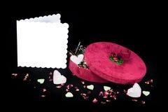 Cadeau de valentines des amoureux et de la carte Copiez l'espace Image stock