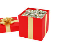Cadeau des dollars Photos stock