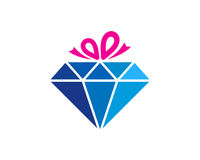 Cadeau Diamond Icon Logo Design Element Photos stock