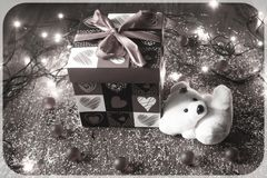 Cadeau du coeur Photographie stock
