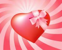 Cadeau en forme de coeur Images stock