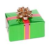 Cadeau en module coloré avec des proues Image libre de droits