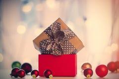 Cadeau et babioles de Noël Photo stock