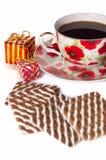 Cadeau et biscuit Photos libres de droits