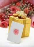 Cadeau et cadre Photographie stock