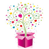 Cadeau et coeur Photographie stock