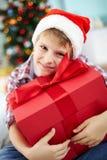 Cadeau et houx Images stock
