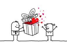 Cadeau et Valentine Photographie stock