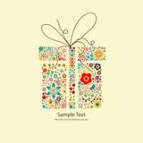 Cadeau floral Photo stock