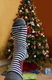 Cadeau inattendu de Noël Photo libre de droits