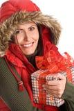 Cadeau mûr de fixation de femme Images stock