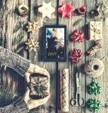 Cadeau, Noël, vacances, célébration, année, présent, nouveau, boîte, Photographie stock libre de droits