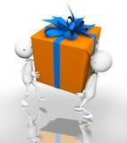 Cadeau orange Photographie stock libre de droits