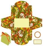 Cadeau ou cadre de empaquetage de produit. Image stock