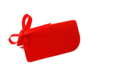 Cadeau ou prix à payer blanc rouge Photos libres de droits
