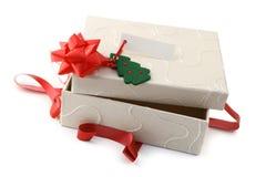 Cadeau ouvert de Noël Photographie stock libre de droits