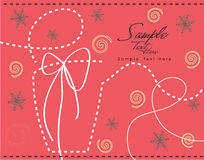 Cadeau pointillé ! Images stock