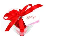 Cadeau pour le jour de rue Valentine Photo stock