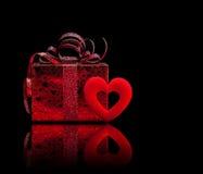 Cadeau pour le jour de valentine Photos libres de droits